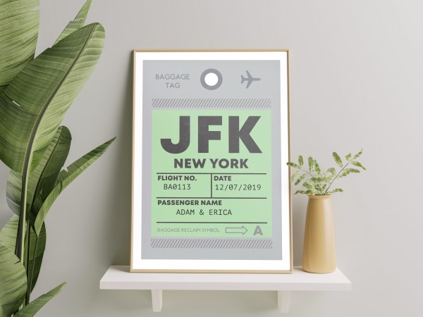 Personalised Luggage Tag Print