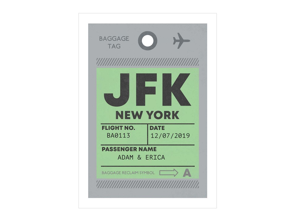 Personalised Luggage Tag Print