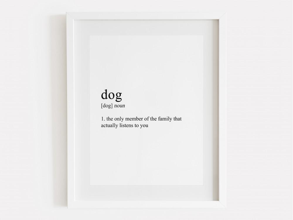 Dog Definition Print