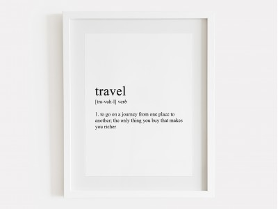 Travel Definition Print