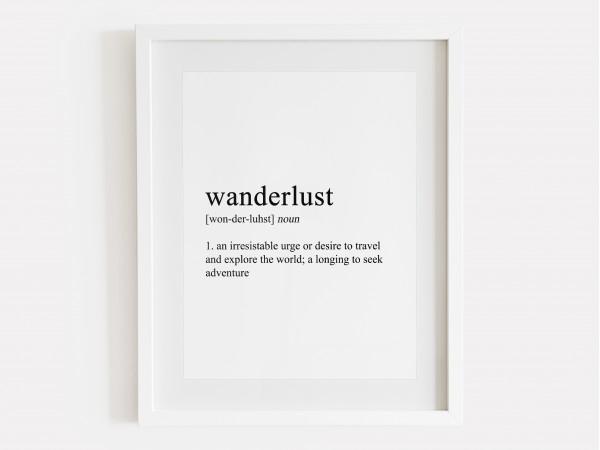 Wanderlust Definition Print