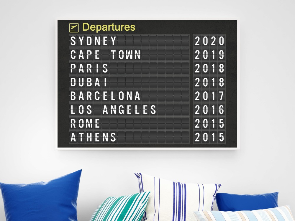 Personalised Airport Destination Print
