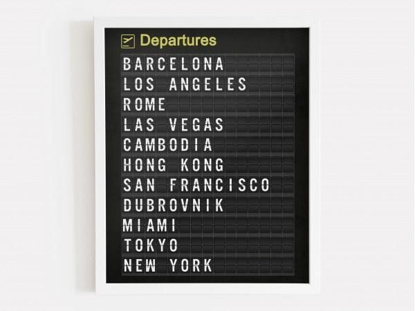 Personalised Airport Departure Board Print