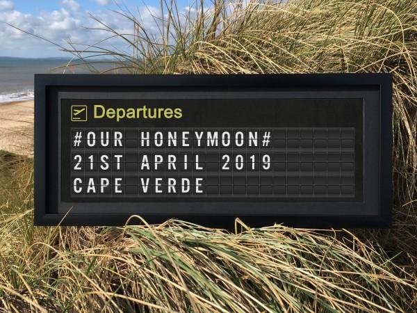 Personalised Airport Departure Board Print - Slimline