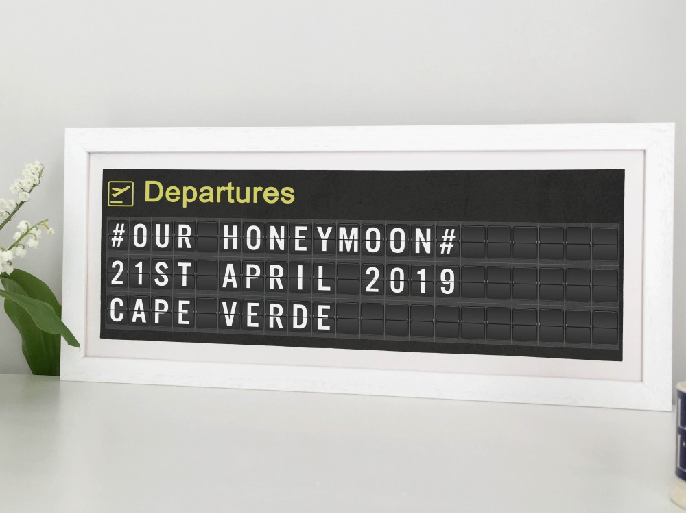 Personalised Airport Departure Board Print - Slimline
