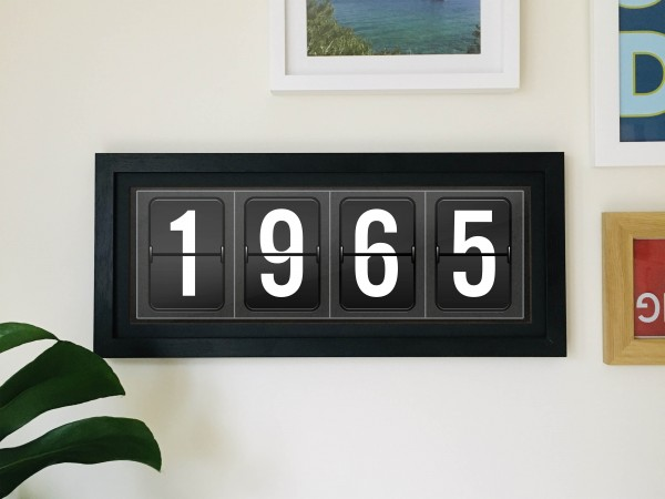 Personalised Airport Departure Board Year Print - Slimline