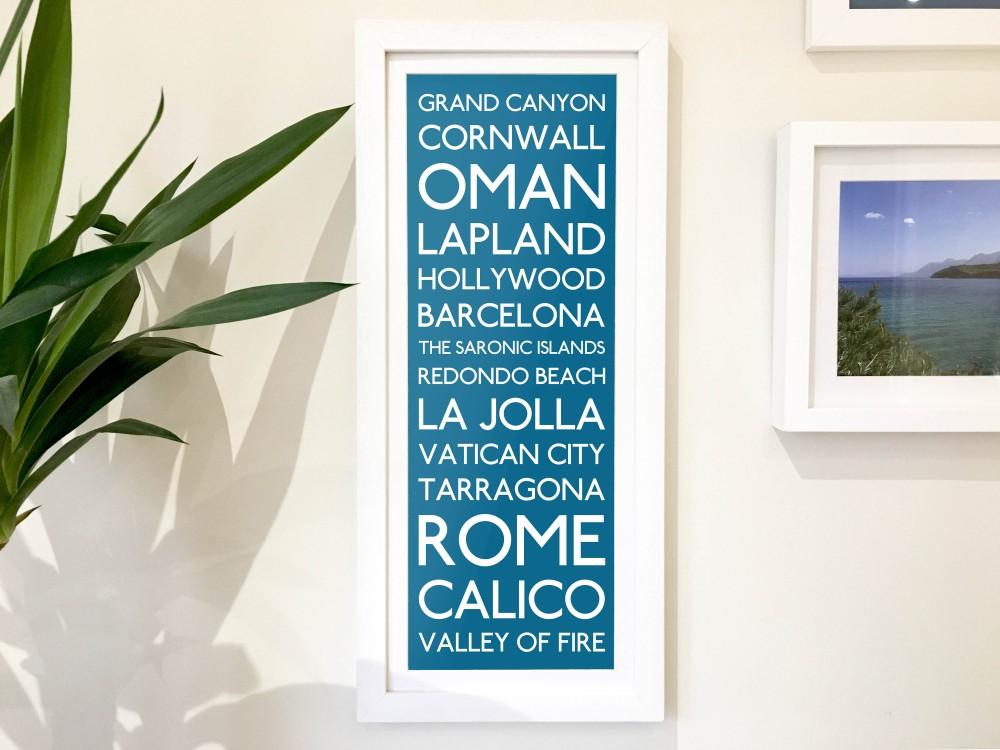 Personalised Destination Print