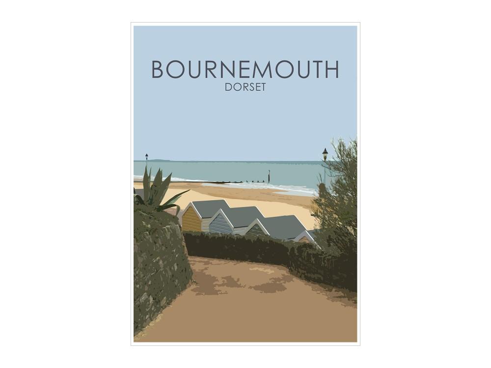 Bournemouth Beach Huts Print