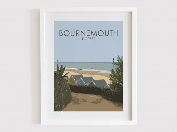 Bournemouth Beach Huts Print