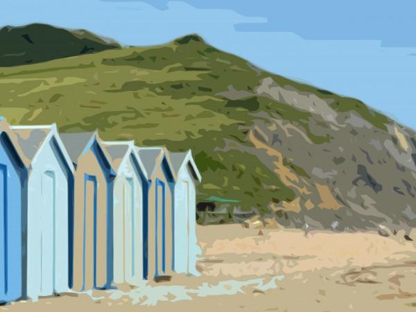 Charmouth Beach Print