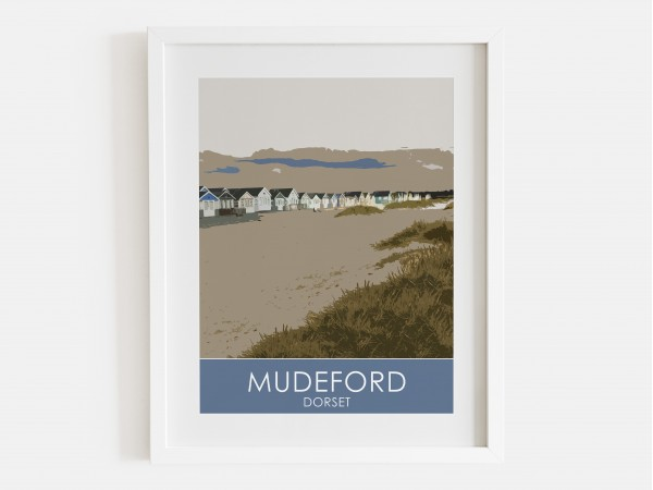 Mudeford Beach Huts Print