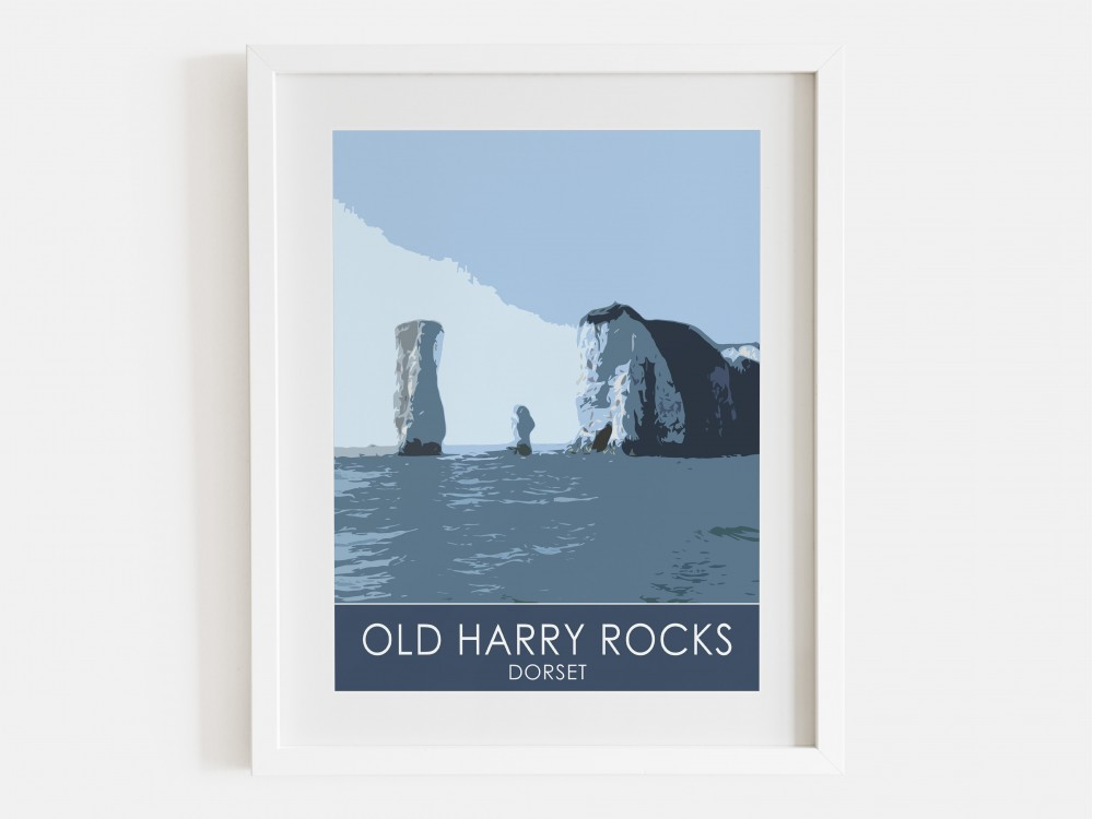 Old Harry Rocks Print