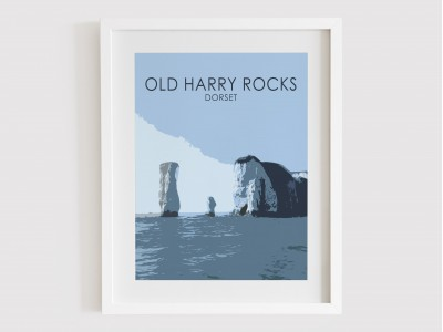 Old Harry Rocks Print