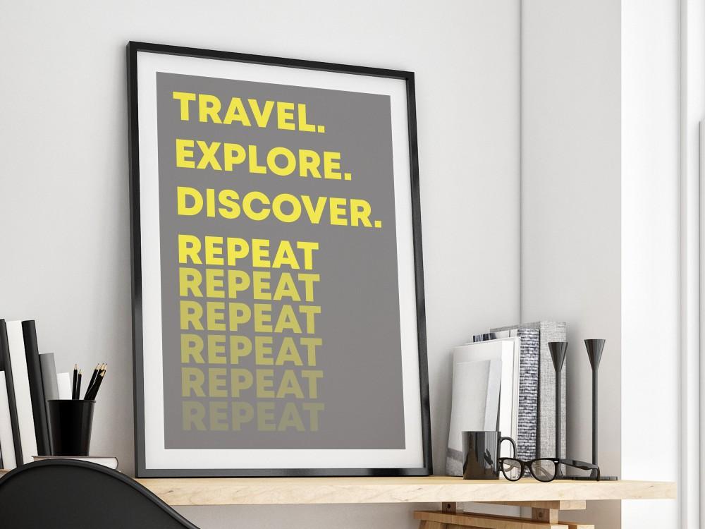 Travel Explore Discover Print