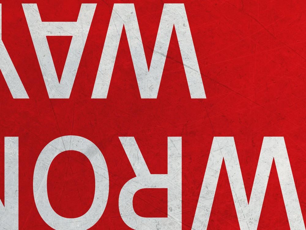 American Wrong Way Travel Sign Print