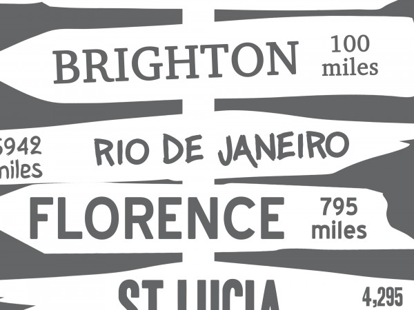 Personalised Signpost Destination Print