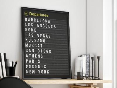 Personalised Airport Departure Board Destination Print