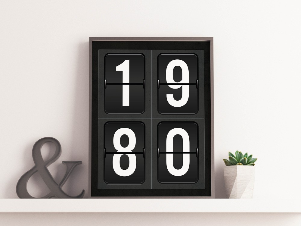 Personalised Airport Departure Board Year Print