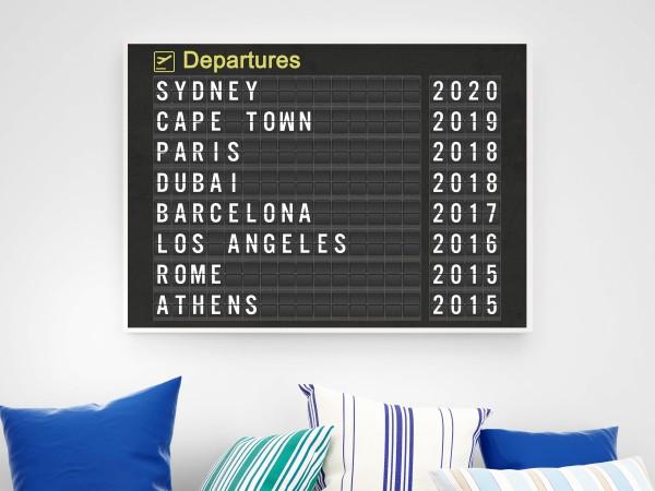 Personalised Airport Destination Print