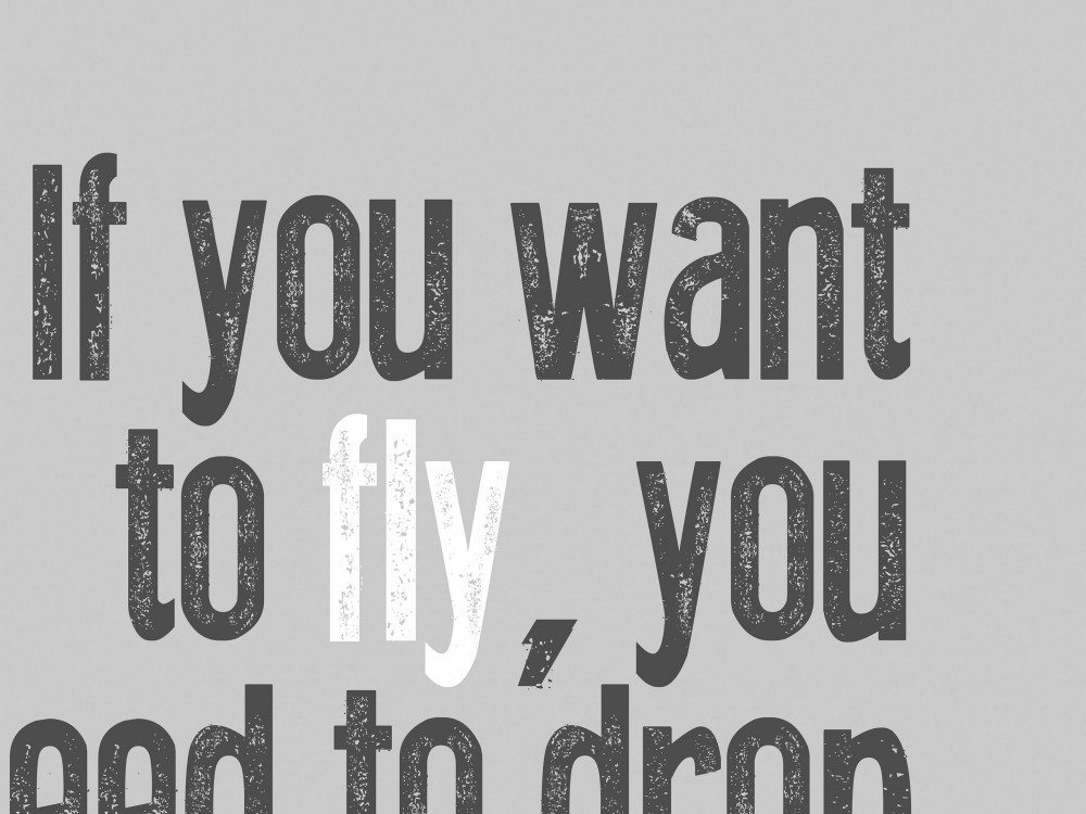 If You Want To Fly Print