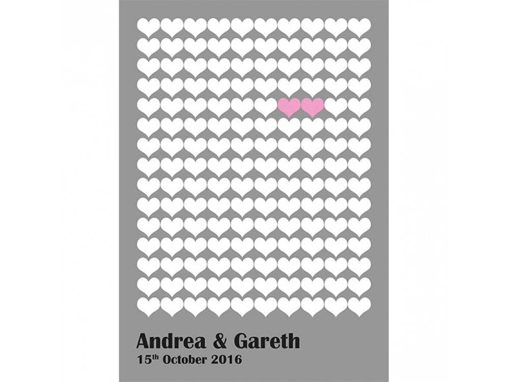 Two Hearts Alternative Guestbook