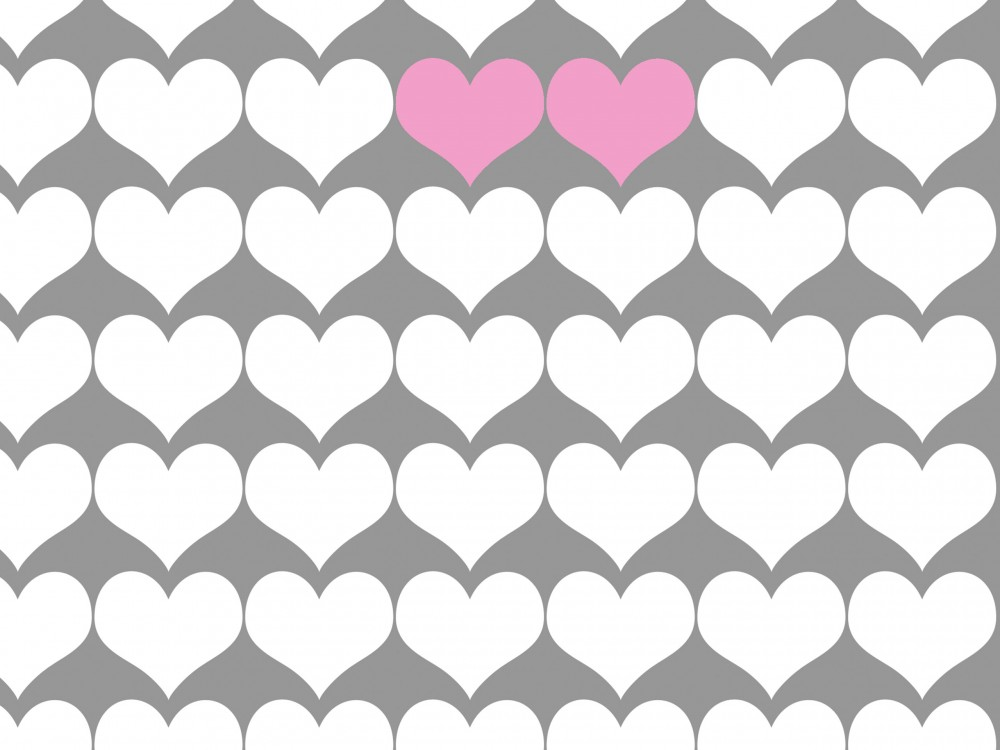 Two Hearts Print