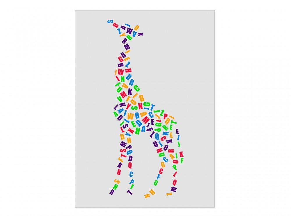 Alphabet Giraffe Poster Print