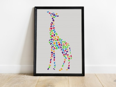 Alphabet Giraffe Print