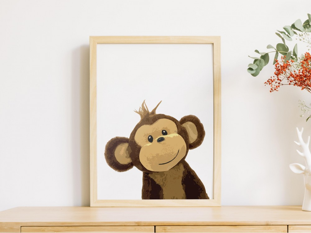Cheeky Monkey Art Print