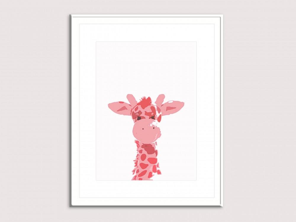 Elsie Giraffe Art Print