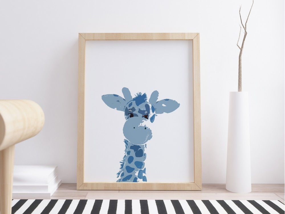 Gerry Giraffe Art Print