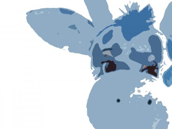 Blue Giraffe Art Print