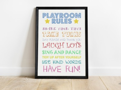 Playtime Rules Print
