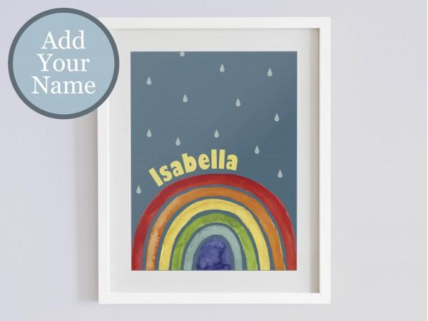 Personalised Bright Rainbow Print