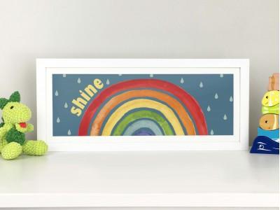 Bright Rainbow Print - Slimline