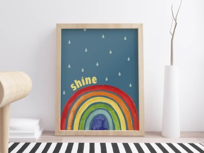 Bright Rainbow Print