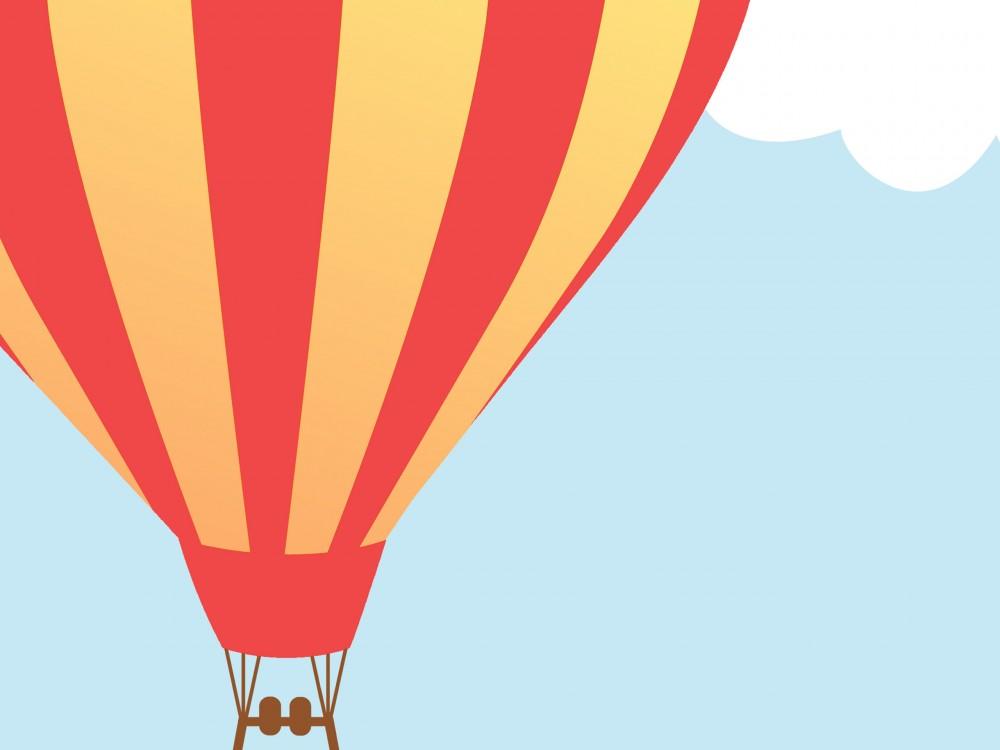 Up and Away Hot Air Balloon Print