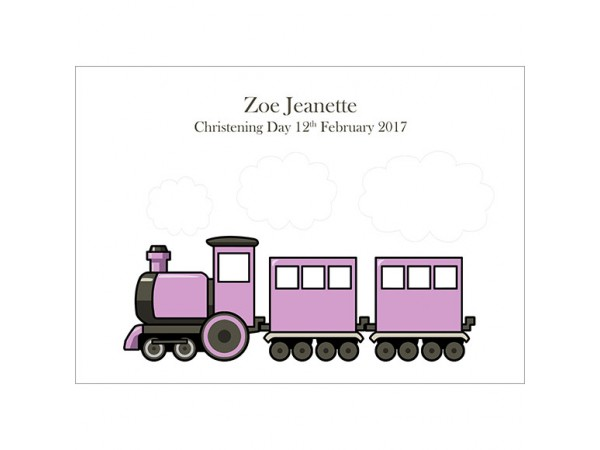 Fingerprint Train - Pink