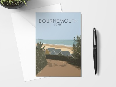 Bournemouth Beach Huts Card