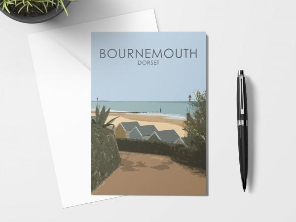 Bournemouth Beach Huts Card