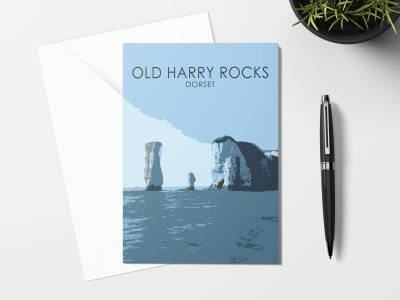 Old Harry Rocks Card