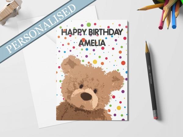 Personalised Children's Birthday Card