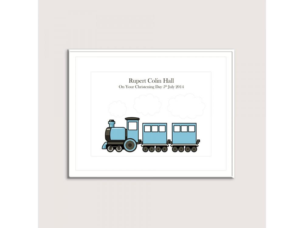 Fingerprint Train - Blue