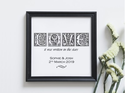 Personalised Love Print