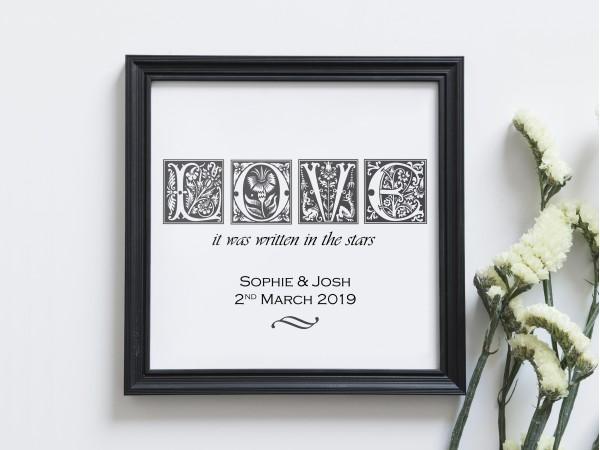 Personalised Love Print