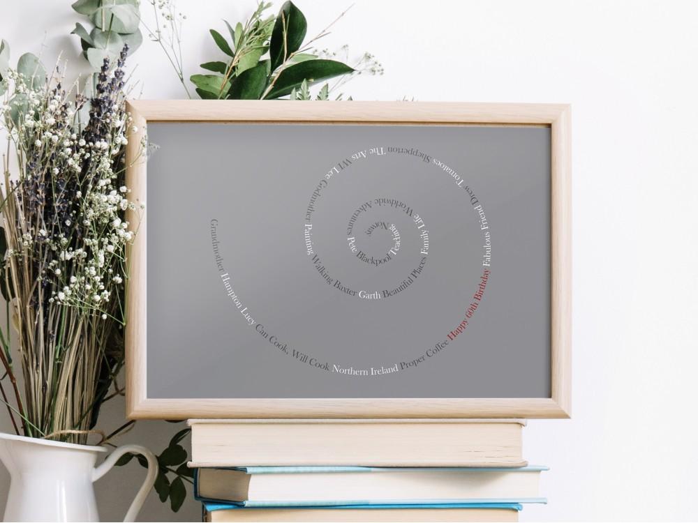 Personalised Memories Swirl - Grey