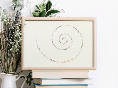 Personalised Memories Swirl - Ivory