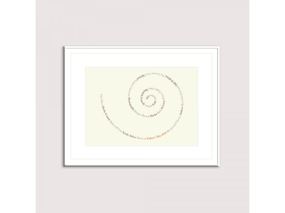 Personalised Memories Swirl - Ivory