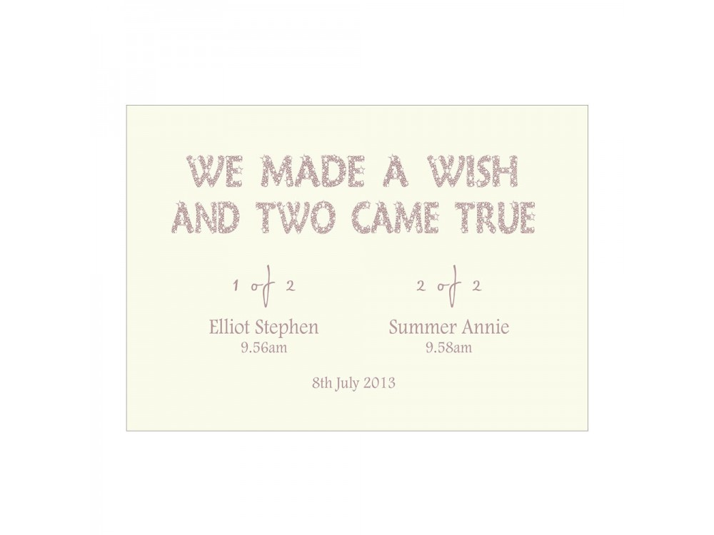 We Made A Wish - Ivory Twins Print