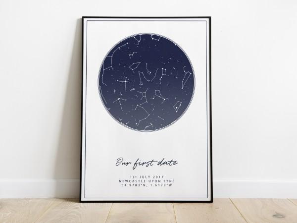 Personalised Night Sky Star Map Print